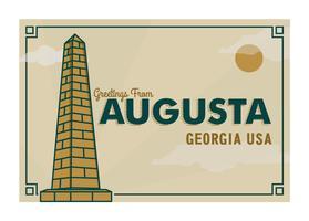 Augusta Georgia vykort Illustration