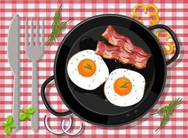frukost i pannan isolerad