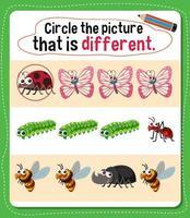 Kreisen Sie das Bild ein, das für Kinder eine andere Aktivität darstellt