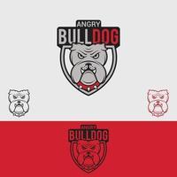 bulldog logotyp formgivningsmall vektor