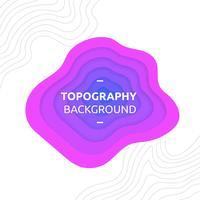 Topographie-Hintergrund-purpurroter Vektor