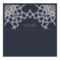 Vektor Hochzeitskarte lasergeschnittene Vorlage