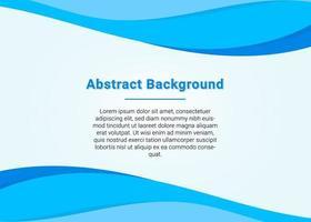 stilvoller Business Blue Wave Präsentationshintergrund vektor
