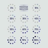 prozentuale Indikatoren Elemente Sammlung vektor