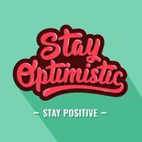 Retro Stay Optimistisk Typografi vektor