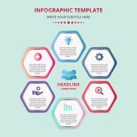 Business-Waben-Infografik-Vorlage für die Präsentation vektor