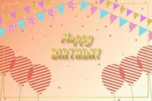 Hintergrund der Geburtstagsfeier mit Ballons und Girlande vektor
