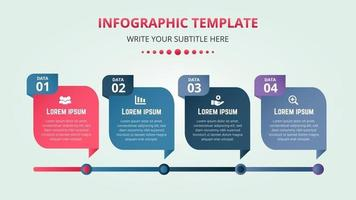 stilvolle Infografik-Banner-Vorlage mit Farbverlauf vektor
