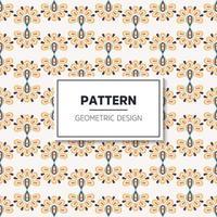nahtloses Muster mit Vintage dekorativen Elementen vektor