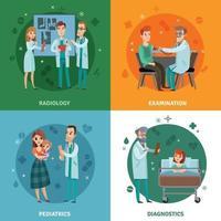 Ärzte Patienten Design-Konzept
