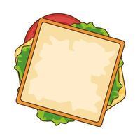 leckeres Sandwich Fast Food Symbol vektor