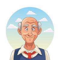 alter Mann und Alzheimer-Patient vektor