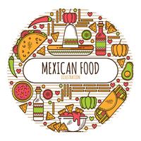 Mexikanisches Essen Menü vektor