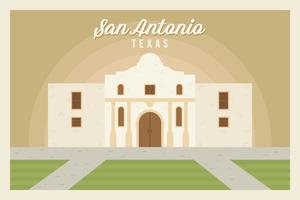 San Antonio Postkarte Vektoren