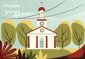 Augusta Georigia Postkarten-Vektor-Design