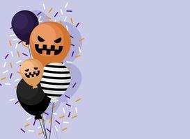 halloween firande banner vektor