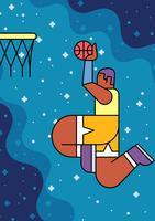 slam dunk basketball vektor