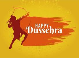 glad dussehra design med lord ram