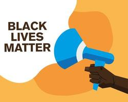 schwarze Leben Materie Banner mit Megaphon Vektor-Design vektor