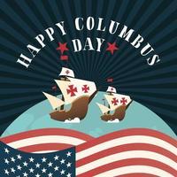 Schiffe für eine glückliche Columbus-Tagesfeier
