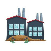 Ikone der Kernkraftwerksindustrie, Vektorgrafik vektor