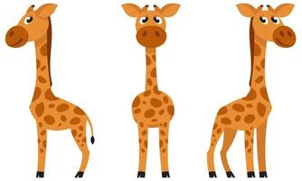 baby giraff i olika poser. vektor