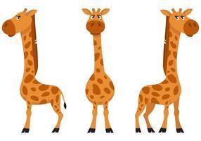 kvinnlig giraff i olika poser. vektor