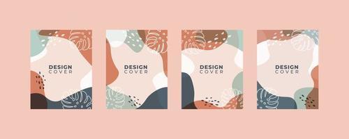 Satz von abstrakten kreativen universellen Cover-Design-Vorlagen. vektor