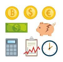 Börsencrash-Icon-Set
