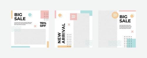 mode försäljning sociala medier postmall.