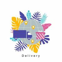 lastbil leverans servicekoncept