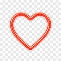 abstrakt 3d realistiskt rött hjärta med glitterstruktur vektor