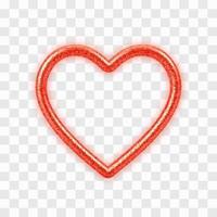 abstraktes realistisches rotes Herz 3d mit Glitzerbeschaffenheit vektor