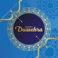 Happy Dussehra Design mit Pfeil und Bogen vektor