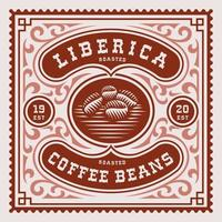 Vintage Kaffeelabel