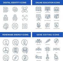 moderne technologien ikonen gesetzt