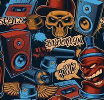 bunter nahtloser Hintergrund für Graffiti-Thema vektor