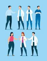Gruppe von Angehörigen der Gesundheitsberufe mit Patienten