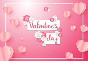 älskar inbjudningskort Alla hjärtans dag försäljning bakgrund med hjärtformade ballonger. vektor