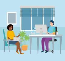 Szene Frauen zu Hause arbeiten