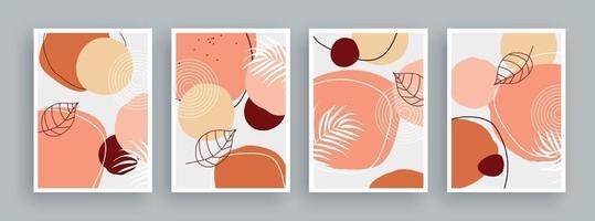 abstrakte Kunstmalerei mit Pastellfarbenhintergrund. minimalistische geometrische Elemente und handgezeichnete Linie. Mitte des Jahrhunderts skandinavischen nordischen Stil.