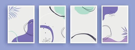 abstrakt konstmålning med pastellfärgad bakgrund. minimalistiska geometriska element och handritad linje. skandinavisk nordisk stil från mitten av århundradet.