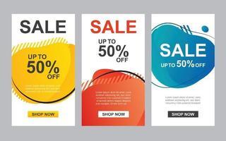 moderne flüssige abstrakte Set zum Verkauf Banner Vorlage. Verwendung für Flyer, Rabatt Sonderangebot Design, Promotion Hintergrund.