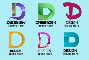 kreativa bokstaven d logo design, ikon och symbol vektor illustration vektor logo design mall element.