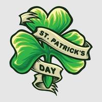 Kleeblatt für St. Patricks Tag vektor