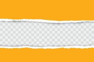 gelber zerrissener Papierhintergrund mit Platz für Ihren Text.
