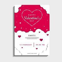 Valentinstag Partykarte