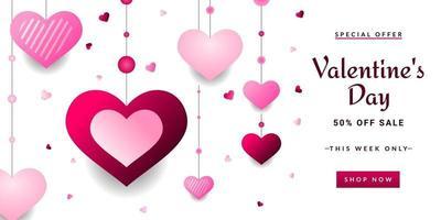 Valentinstag Verkauf Hintergrund