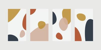 trendig abstrakt universell mall med naturkoncept för berättelser om sociala medier