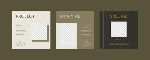 minimalistische Social Media Post Vorlage.